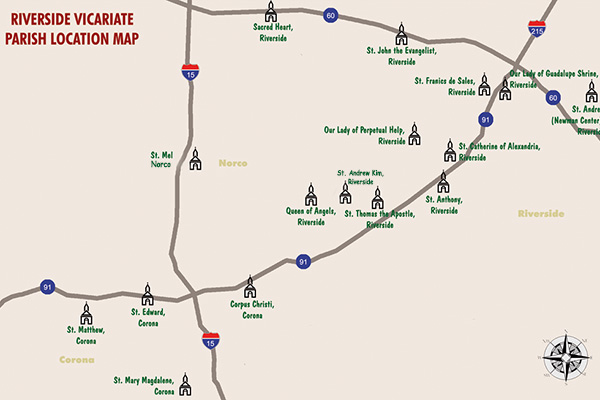 Riverside Vicariate Map