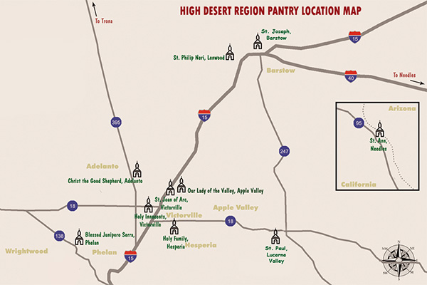 High Desert Vicariate Map